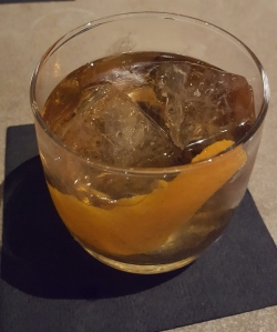 A Measured Spirit Ginger Orange Flame cocktail